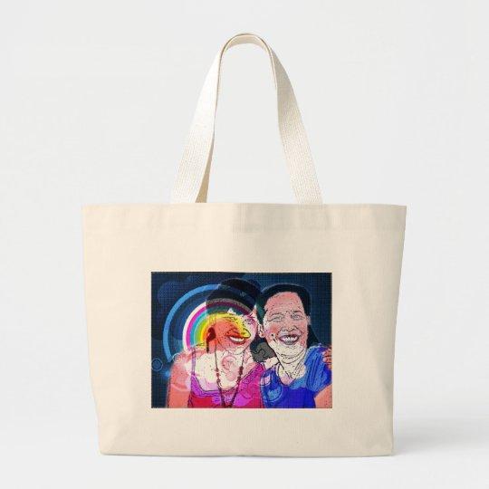 Amamos a la mamá bolsa de tela grande