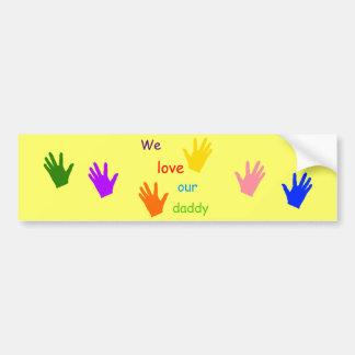 Amamos a nuestra pegatina para el parachoques del  pegatina de parachoque