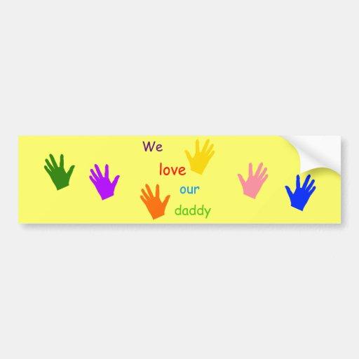 Amamos a nuestra pegatina para el parachoques del  pegatina para auto