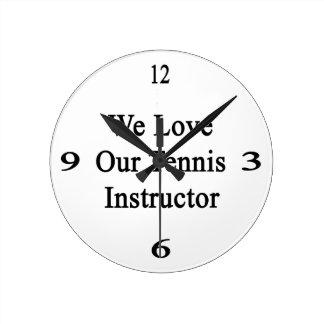 Amamos a nuestro instructor del tenis