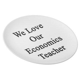 Amamos a nuestro profesor de la economía