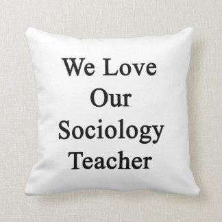 Amamos a nuestro profesor de la sociología cojin