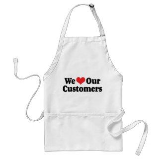 Amamos a nuestros clientes delantal