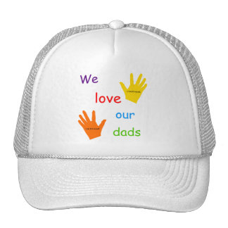 Amamos a nuestros papás gorros