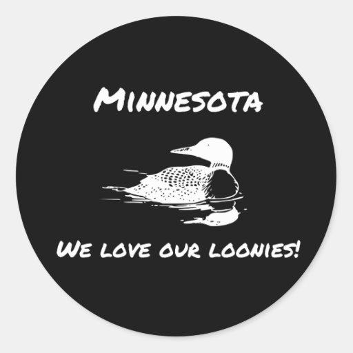 Amamos a nuestros pegatinas divertidos del etiquetas redondas