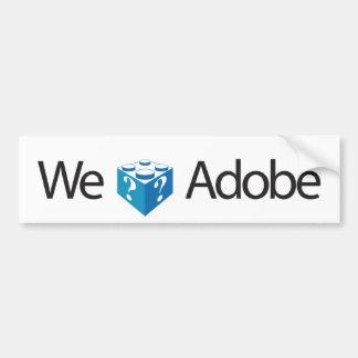 Amamos Adobe Etiqueta De Parachoque