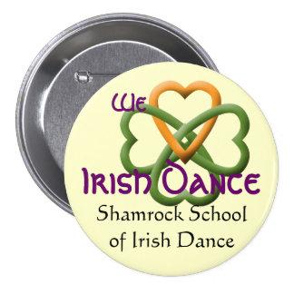 Amamos danza del irlandés pin redondo de 3 pulgadas