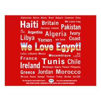 ¡Amamos Egipto! ¿Democracia conseguida? Tarjetas Publicitarias