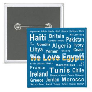 Amamos Egipto, y otros Pin Cuadrado