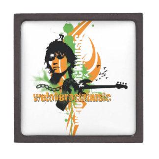 Amamos el ejemplo de la música rock cajas de recuerdo de calidad