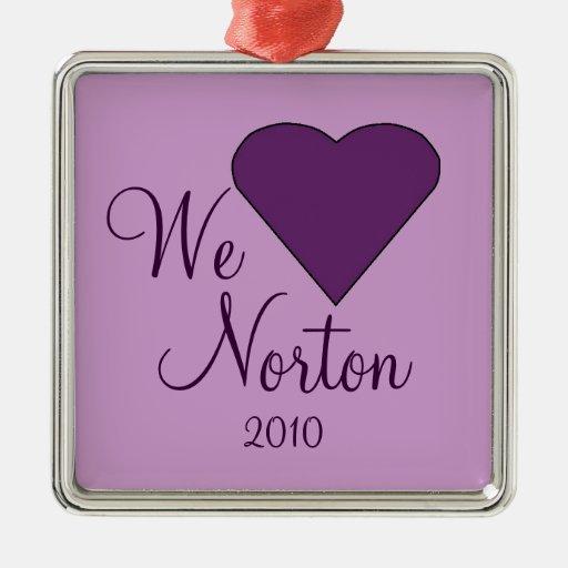 Amamos el ornamento de NORTON Adorno Cuadrado Plateado