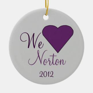 Amamos el recuerdo de NORTON Ornamentos De Reyes
