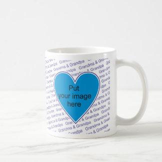 Amamos la abuela y al abuelo - personalice con la  tazas de café
