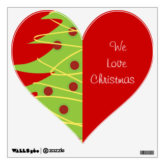 Amamos la etiqueta de la pared del corazón del nav vinilo