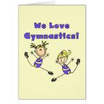 Amamos la gimnasia tarjetón