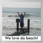 ¡Amamos la playa de DA! Posters