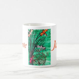 Amamos la taza del parque de la libélula de Japón