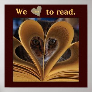 Amamos leer el poster de la instrucción de la sala