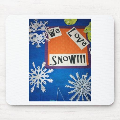 ¡Amamos nieve! Tapete De Raton