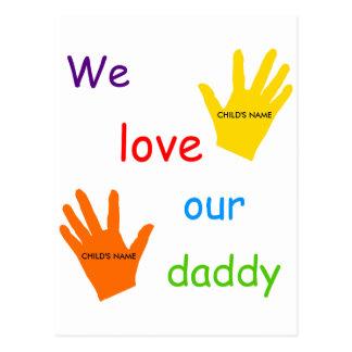Amamos nuestra postal del papá (2 niños)