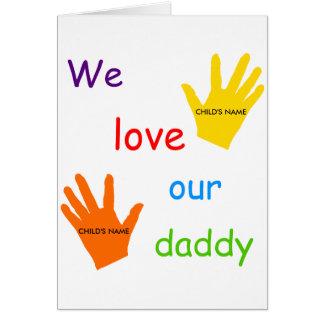 Amamos nuestra tarjeta de felicitación del papá (2