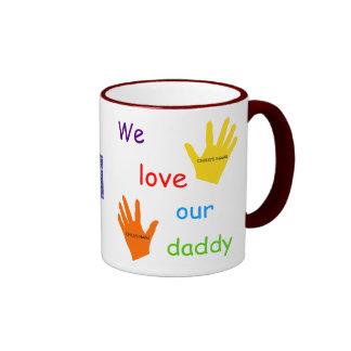 Amamos nuestra taza 2-Image del papá 2 niños