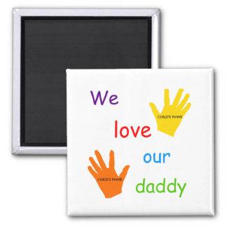 Amamos nuestras manos del papá 2 imán
