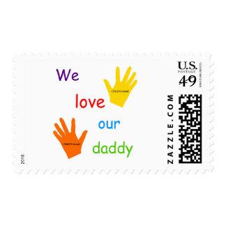 Amamos nuestro franqueo del papá (2 niños)