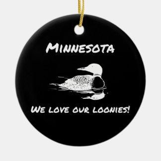Amamos nuestro ornamento divertido del manganeso adorno de navidad