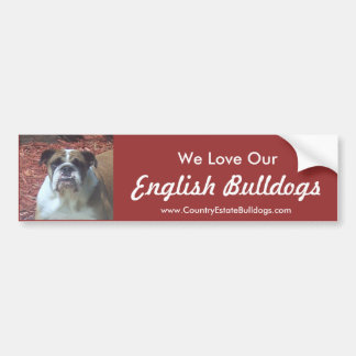 Amamos nuestros dogos ingleses pegatina de parachoque