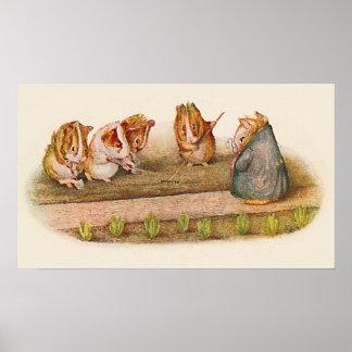 Amamos nuestros pequeños conejillos de Indias del Póster
