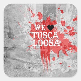 Amamos Tuscaloosa (por diseños de lujo) Pegatina Cuadrada