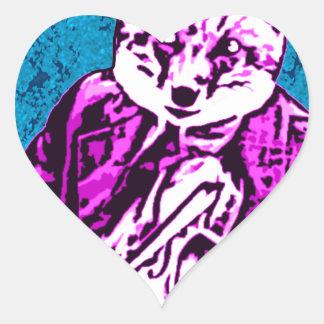 aman o del zorro calcomanías corazones personalizadas