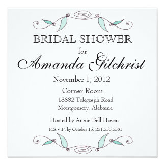 Amanda and Joseph - Square Bridal Shower Invitatio Card