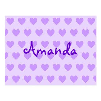 Amanda en púrpura postales
