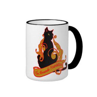 Amanda Foundation Artsy Cat Ringer Coffee Mug