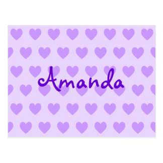 Amanda in Purple Postcard