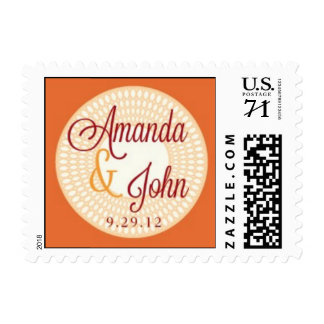 Amanda & John Wedding stamps