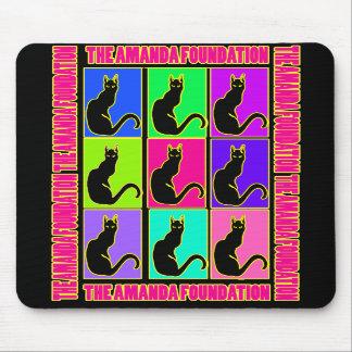 Amanda Kitty Pop Art Mouse Pad