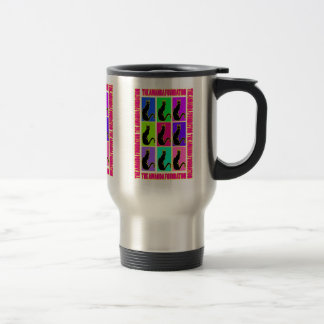 Amanda Kitty Pop Art 15 Oz Stainless Steel Travel Mug
