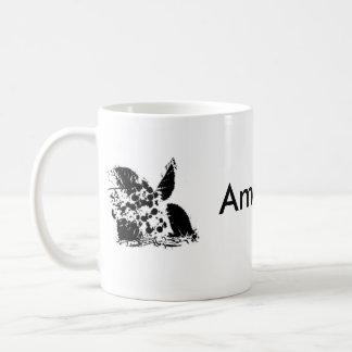 Amanda name flower coffee mugs