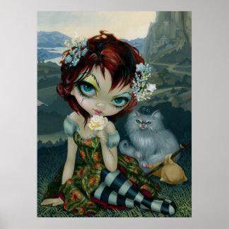 Amanda Palmer Tarot : The Fool ART PRINT fairy cat