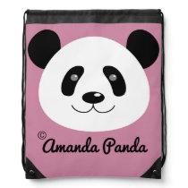 Amanda Panda Drawstring Backpack