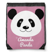 Amanda Panda Drawstring Bag