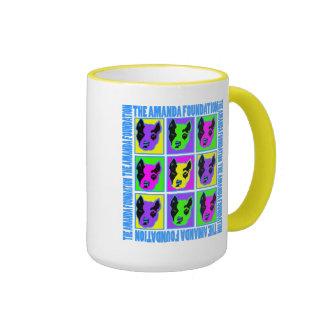 Amanda Pittie Pop Aart Ringer Coffee Mug