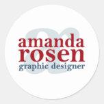 Amanda Rosen diseña al pegatina