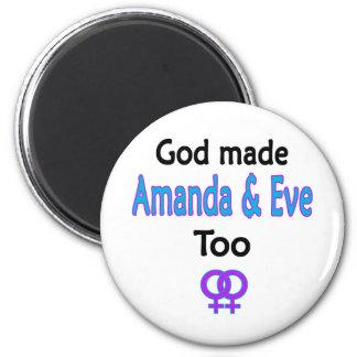 Amanda y Eve Iman De Frigorífico