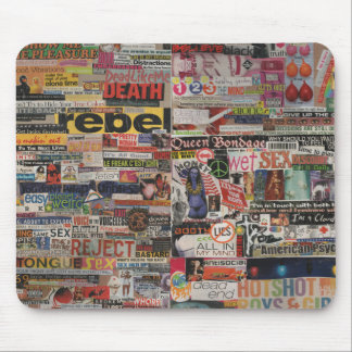Amanda's magazine & cardboard picture collage #22 mouse pad
