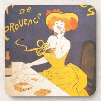 Amandines de Provence French vintage illustration Drink Coaster
