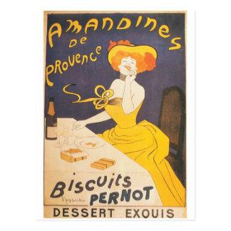 Amandines de Provence French vintage illustration Postcard